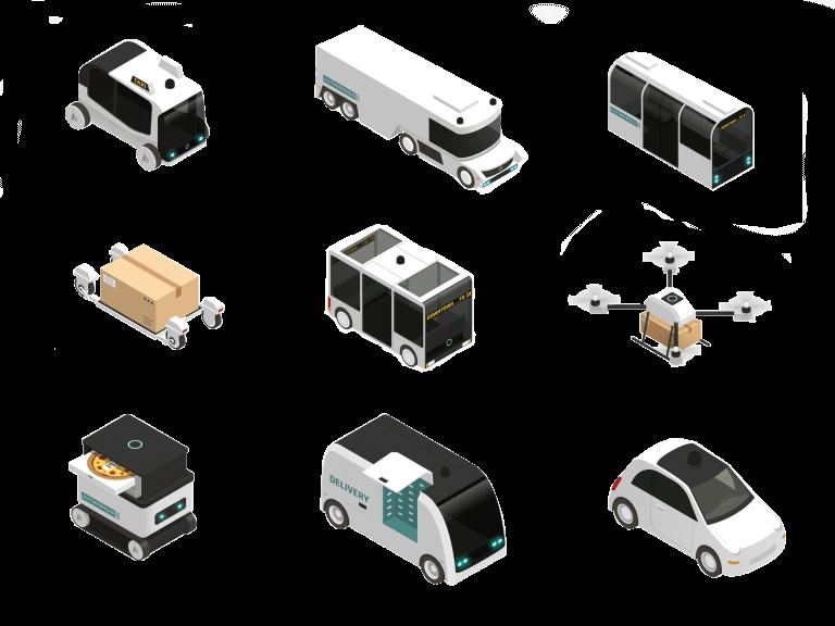 autonomous vehicles at an intersection